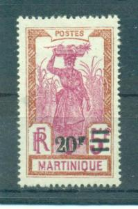 Martinique sc# 128 mh cat value $18.50