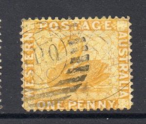 Western Australia Early Swan Type GPO Postmark Fine Used 1d. 064156