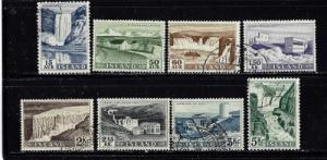 Iceland 289-96 Used 1956 set