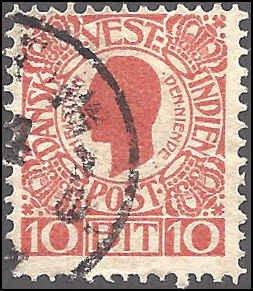 Danish West Indies 32 Used... SCV $3.00