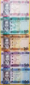 O) 2015 SOUTH SUDAN, BANKNOTE, PAPER MONEY LSD -UNC, POUND  STERLING, PRESIDENT