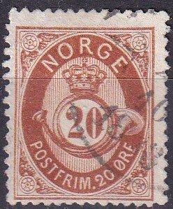 Norway #27 F-VF Used CV $12.00 (Z9600)