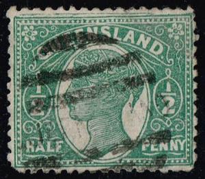 Australia-Queensland #103 Queen Victoria; Used (2.00)