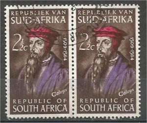 SOUTH AFRICA, 1964, used 21/2c, John Calvin, Scott 303