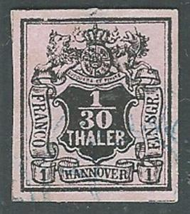 HANNOVER GERMANY - an old forgery of a classic stamp - .....................1194