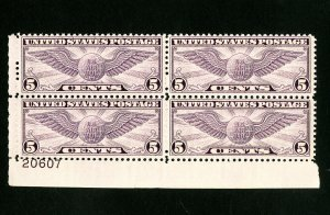 US Stamps # C16 XF OG NH PB of 4