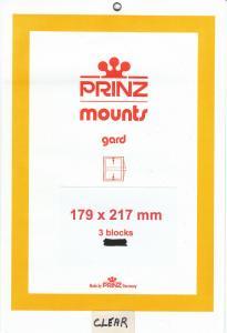 PRINZ CLEAR MOUNTS 179X217 (3) RETAIL PRICE $10.50