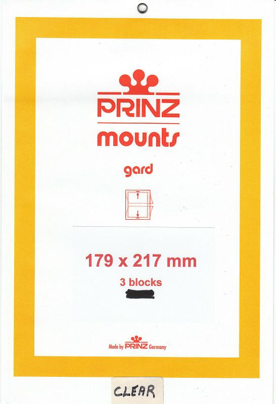 PRINZ CLEAR MOUNTS 179X217 (3) RETAIL PRICE $10.50