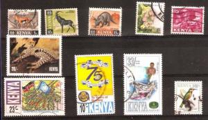 LOT Nr 129 KENYA  BRITISH COLONIES 10 STAMPS OLD AND MODERN