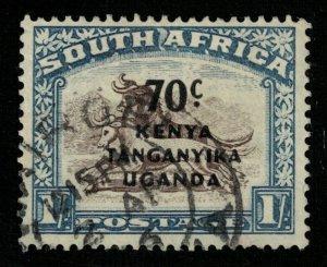 1941, South Africa, Overprinted: KENYA TANGANYIKA UGANDA, 70c/1Sh (T-9297)