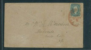 CSA #12 ON COVER TIED WITH RED PETERSBURG, VA CDS -  V. LARGE STAMP -  F/VF  -