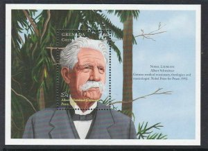GRENADA, Grenadines,  Albert Schweitzer Nobel prize winner, $6 MINT sheet,  MNH