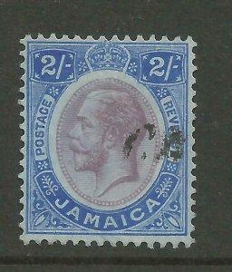 JAMAICA 1912/20 Sg 66, 2/- Purple & Bright Blue/Blue, Good used. {B9-71}