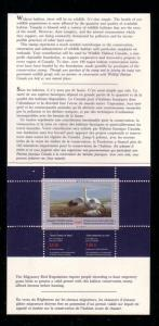 Canada 1989 Snow Geese stamp booklet mint NH
