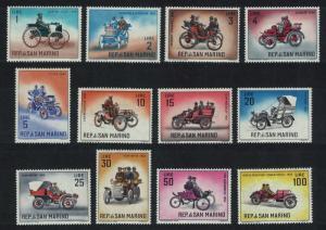 San Marino Veteran Motor Cars 12v SG#644-658 MI#704-718