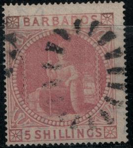 Barbados 1873 SC 43 Used SVC$ 375.00