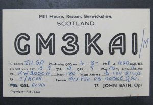 6403 Amateur Radio QSL Card Reston Scotland