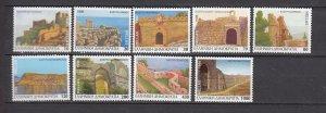 J26151  jlstamps 1996 greece set mnh #1843a-51a castles booklet stamps