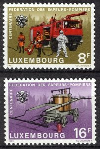 Luxembourg MNH 637-8 Centenary Of Fire Pumpers 1983