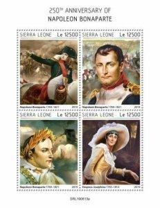 Z08 IMPERF SRL190613a SIERRA LEONE 2019 Napoleon Bonaparte MNH ** Postfrisch