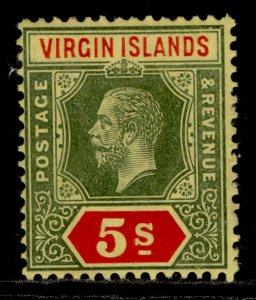 BRITISH VIRGIN ISLANDS GV SG77, 5s green & red/yellow, M MINT. Cat £45.