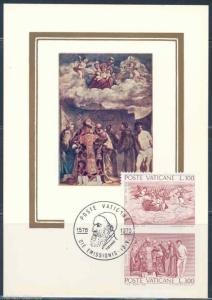 VATICAN CITY  SCOTT#590/91  MAXIMUM CARD  FIRST DAY CANCELED