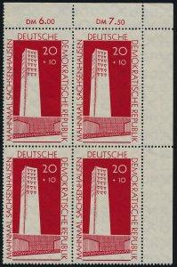 Germany GDR B70 TR Block MNH Sashsenhausen Nationbal Memorial