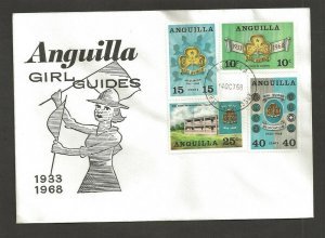 1968 Anguilla Scout 35th anniv Girl Guides FDC