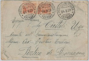 ITALIA REGNO:  storia postale - BUSTA da Portico di Romagna per la citta'! 1924