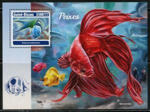 Guinea Bissau 2018 Fisch Souvenir Blatt Neuwertig Nh