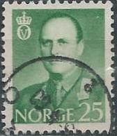 Norway 360 (used) 25ø, King Olav V, emerald (1958)