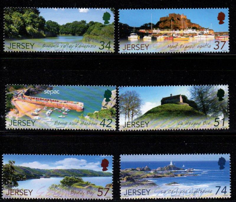 Jersey Sc 1288-93 2007 Scenic Views stamp set mint NH