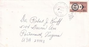 US CANAL ZONE STAMP COVER, LETTER, PC, COLLECTION LOT #S8