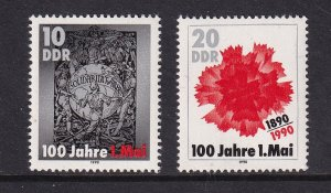 German Democratic republic  DDR  #2810-2811 MNH Centenary of labour day