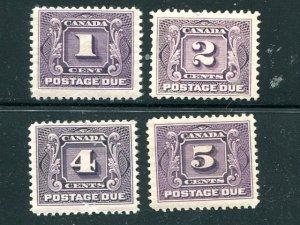 Canada #J1-4    Mint VF     - Lakeshore P...