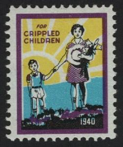 UNITED STATES 1940 Crippled Children CINDERELLA  - BARNEYS