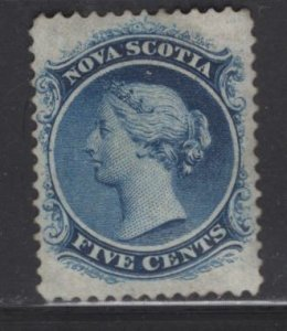 NOVA SCOTIA  10 NO GUM QUEEN VICTORIA ISSUE 1860, CAT VALUE $425.00