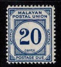 Malayan Postal Union J27a MNH Fine+ bright