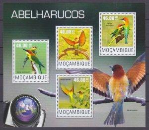 2014 Mozambique 7590-7593KL Birds - Bee-eater 10,00 €