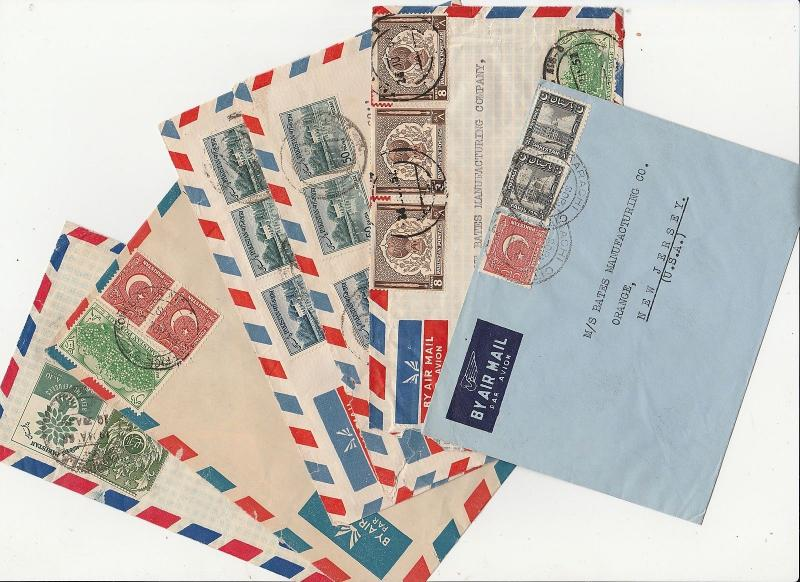 Large Collection  India  Pakistan South Africa etc. Postal History Aerograme 29