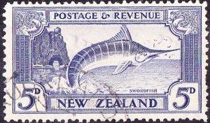NEW ZEALAND 1935KGVI 5dUltramarineSG563bUsed