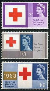 SG642p/4p 1963 Red Cross Phosphor Set U/M