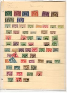 GERMANY COLLECTION ON STOCK SHEETS, BOTH MINT AN USED