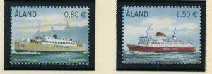 Aland Finland Sc  311-12 2011 Ferries stamp set mint NH