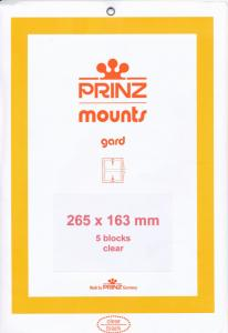 Prinz SCOTT Stamp Mount 163 mm / 265 mm CLEAR  (Pack of 5)