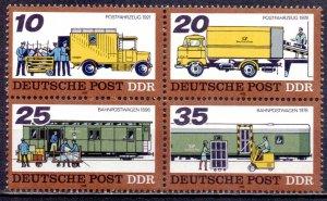 GDR. 1978. 2299-2302. Postal transport. MNH.
