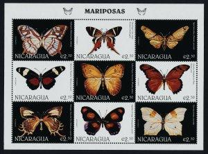 Nicaragua 2202 MNH Butterflies