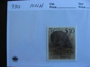NEW ZEALAND $10 Kiwi bird stamp Sc 930 MNH