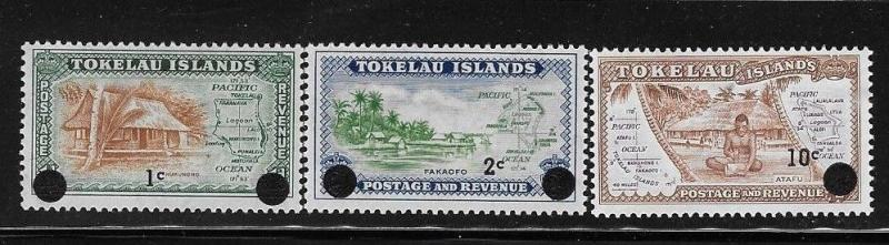Tokelau 1967 Surcharged Sc 9-11 MNH A679