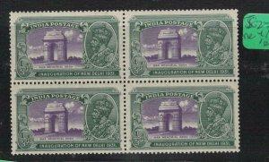 India SG 240a Block of 4, 3 MNH (6etv)
